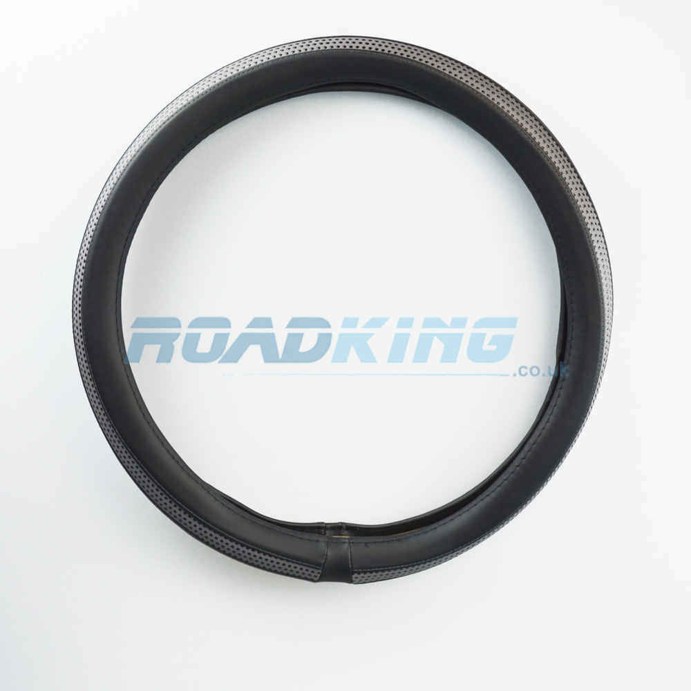 Truck Steering Wheel Cover | Black & Grey | 44-46cm