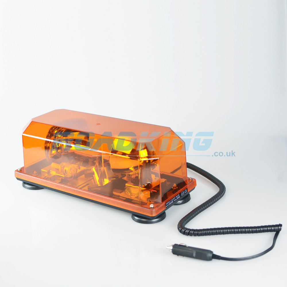 Twin Orange Warning Light with Suction Cups & Magnet | 24v