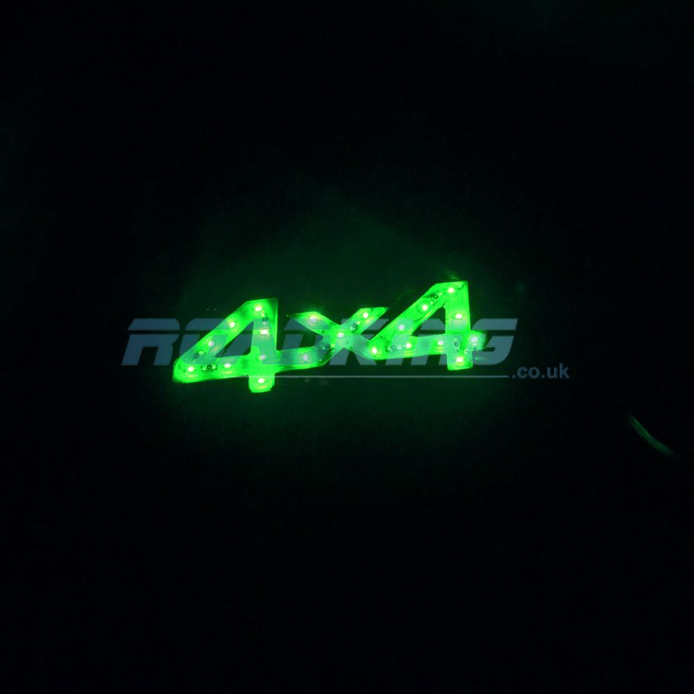 12 Volt LED 4x4 Emblem - Green