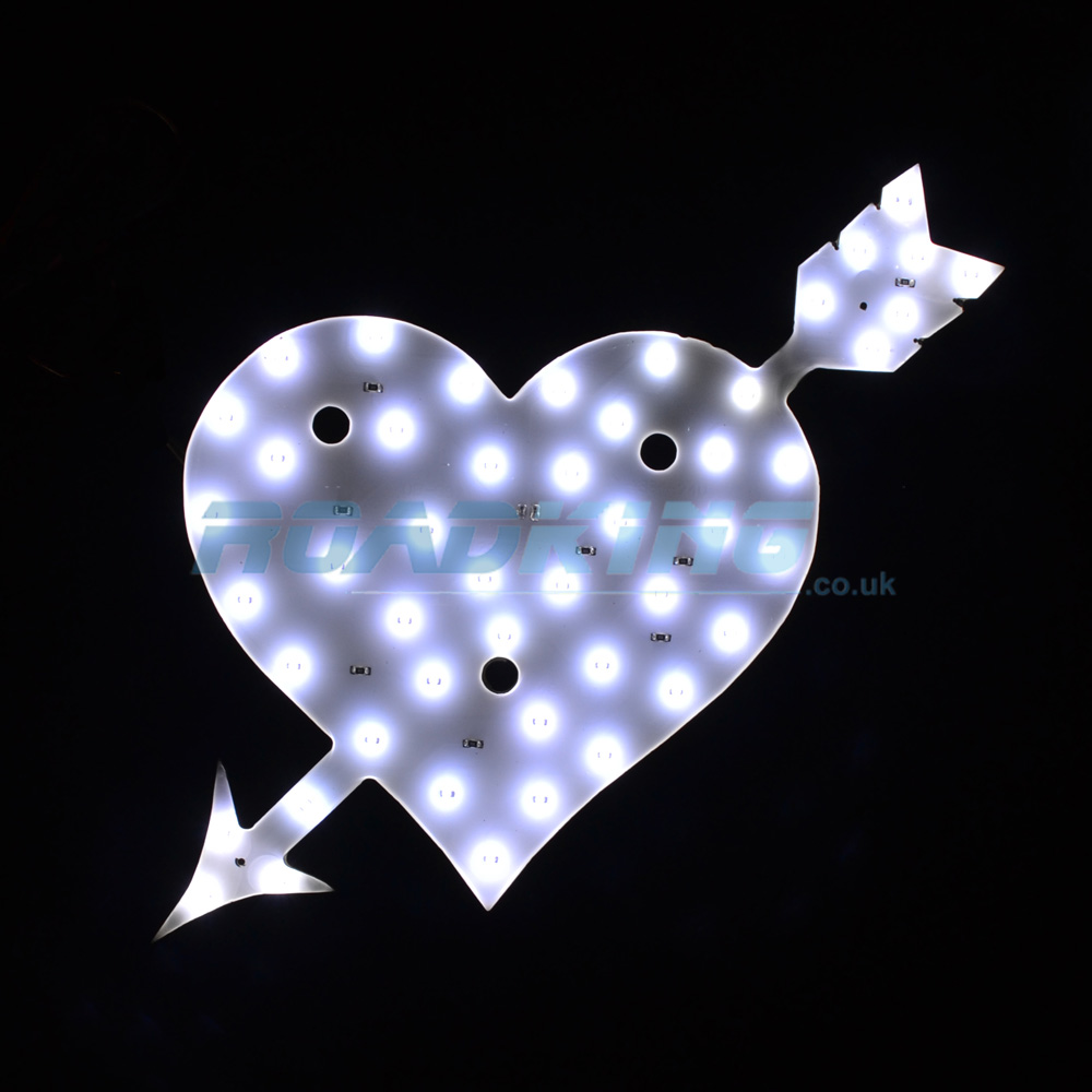 24v LED Heart Light | White Interior 48 LED Truck Light