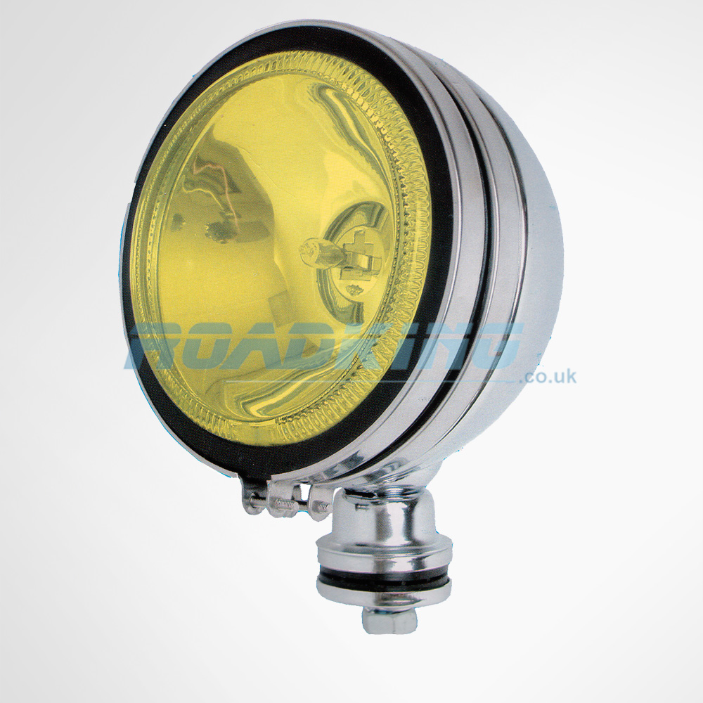 24 Volt Yellow 6 inch Dual Angel Eyes Spotlight | 24v