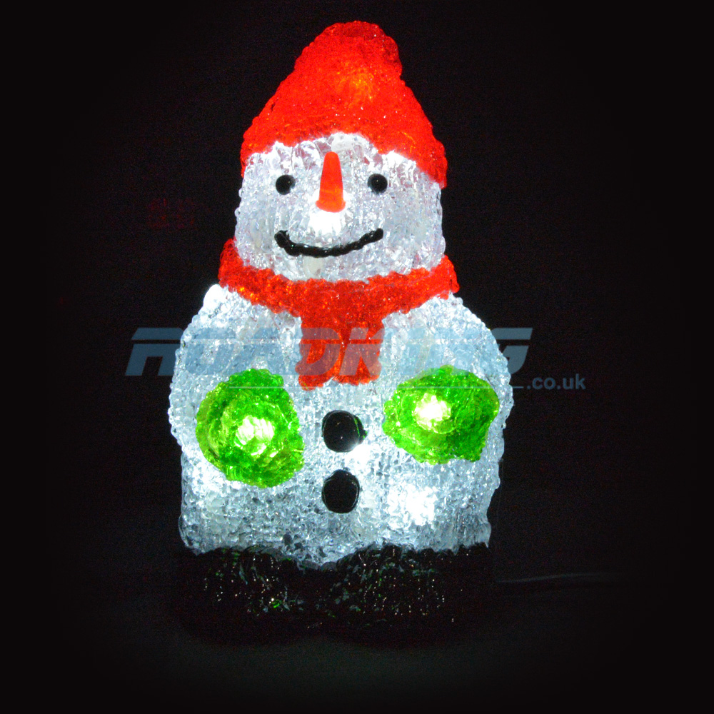 8'' LED Light Up Christmas Snowman | 24v