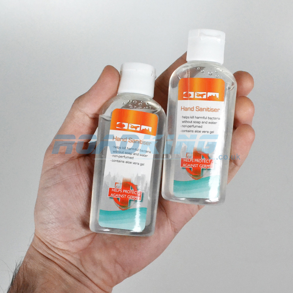 Hand Sanitiser Gel Twin Travel Pack | 2x 60ml Antibacterial/Antiseptic Bottles