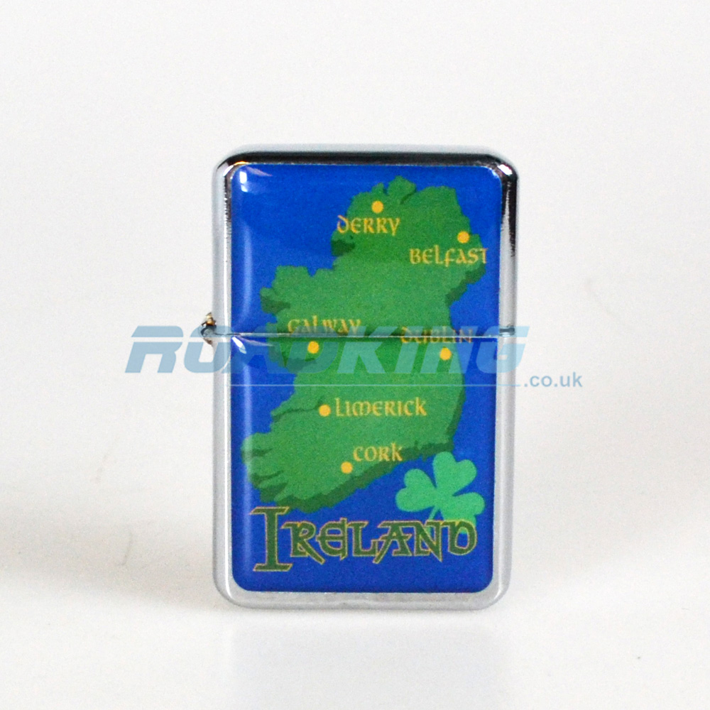 Ireland Zippo Style Lighter | Irish Map | ROADKING.co.uk