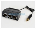 3-Way Cigarette Lighter Adaptor / Splitter / Socket with Hella Plug | 12v / 24v