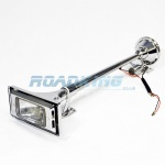 Air Horn & Light | Chrome | 63cm - 24v