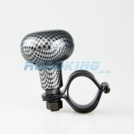 Carbon Fibre Effect Universal Steering Wheel Knob