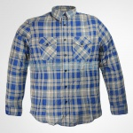 Mens Check Flannel Shirt | Blue & Grey