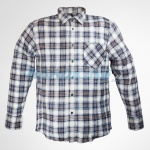 Mens Beige & Blue Checked Flannel Shirt