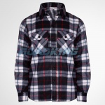 Mens Check Fleece Shirt | Black, White & Red