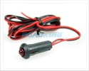Flashing Red LED Warning Light (Theft Deterant / Fake Car Alarm) | 12v