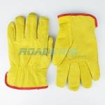 Leather Driving Gloves | Felt Lined | Size 10