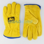 Leather Driving Gloves | White Felt Lined | Size 9