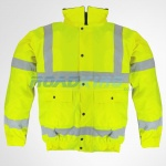 Hi-Vis Breathable Bomber Jacket | Yellow