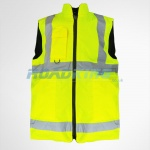 Hi-Viz Safety Bodywarmer with Reversible Fleece