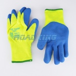 Hi-Vis Acetherm Latex Knit Gloves | Fleece Lined
