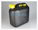 10 Litre Black Plastic Jerry Can