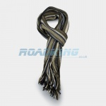 Mens Striped Scarf | Brown, White, Biege & Blue