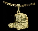 Gold Mercedes Actros Truck Pendant