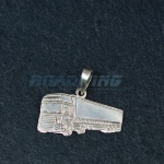 Silver DAF Truck Pendant