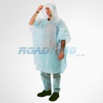 Wet Weather Poncho | Plastic Disposable or Re-Useable | One Size Fits All