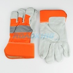 Reflective Work Gloves | Orange & Grey
