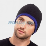 Reversible Beanie Hat - Black/Blue