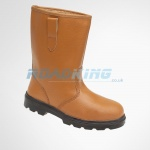 Toesavers 9101 Tan Leather Safety Rigger Boots | Fleecy Warm Lining & Steel Midsole
