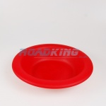 Plastic Camping Soup Bowl Plate | 18cm Red