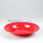 Plastic Camping Deep Soup Bowl Plate | 22cm Red