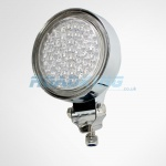 24 Volt White 4.5 inch Dual Angel Eyes Spotlight | Truck Spot Light | 24v