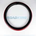 Truck Steering Wheel Cover | Black & Red | 44-46cm
