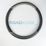Truck Steering Wheel Cover | Black & Silver | 47-48cm