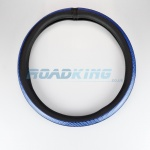 Truck Steering Wheel Cover | Black & Blue | 44-46cm