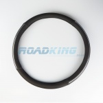 Truck Steering Wheel Cover | Black & Chrome | 44-46cm