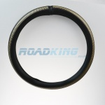 Truck Steering Wheel Cover | Black & Brown | 44-46cm