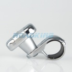 Steering Wheel Knob - Silver / Chrome Design