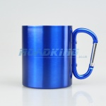 Travel / Camping Mug with Carabiner | Blue