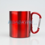 Travel / Camping Mug with Carabiner | Red