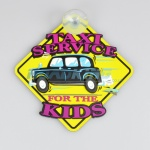 3D Car Window Sucker Sign - Taxi Service for the Kids