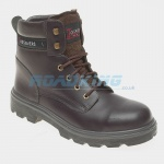 Toesavers Leather Safety Boot | Brown