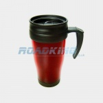 Thermal Travel Mug | Large Insulated Coffee Mug Flask | 450ml | Red