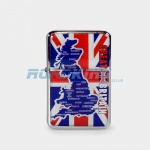 Union Jack Map Zippo Style Lighter