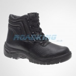 Warrior Safety Chukka Boots With Steel Toecap & Midsole | Black
