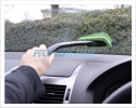 Car Windscreen Clearer | 2x Microfibre Cleaning Pads & Spray Bottle